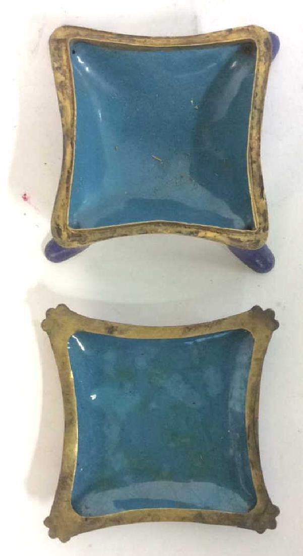 Lot 2 Multi Toned Chinoiserie Trinket Boxes - 8