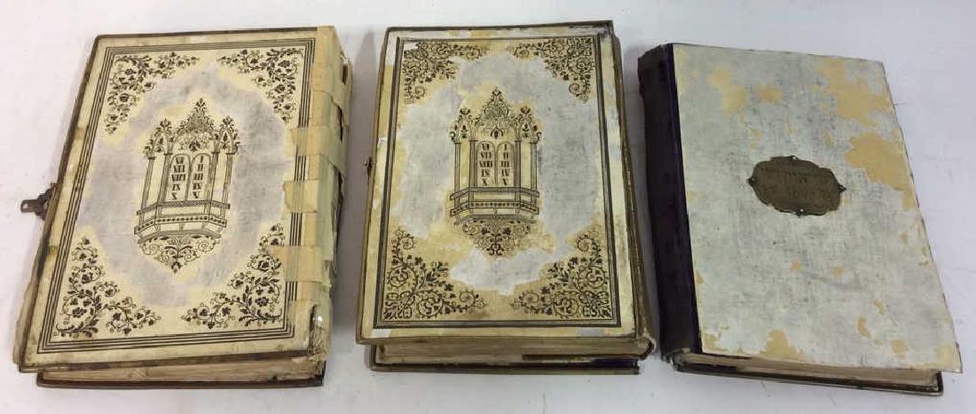 Lot 3 Antique Judaica Books