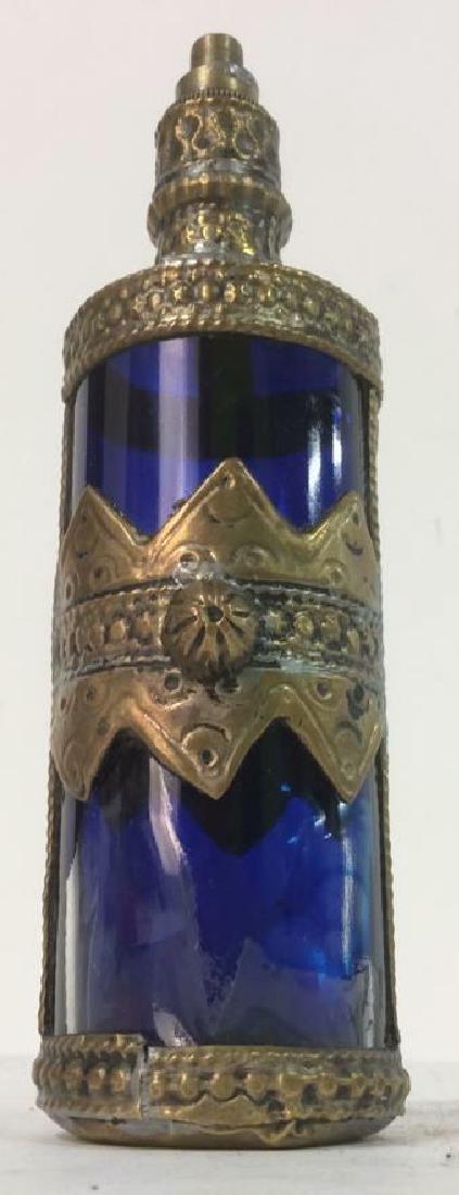 Blue & Gold Toned AntiquePerfume Bottle