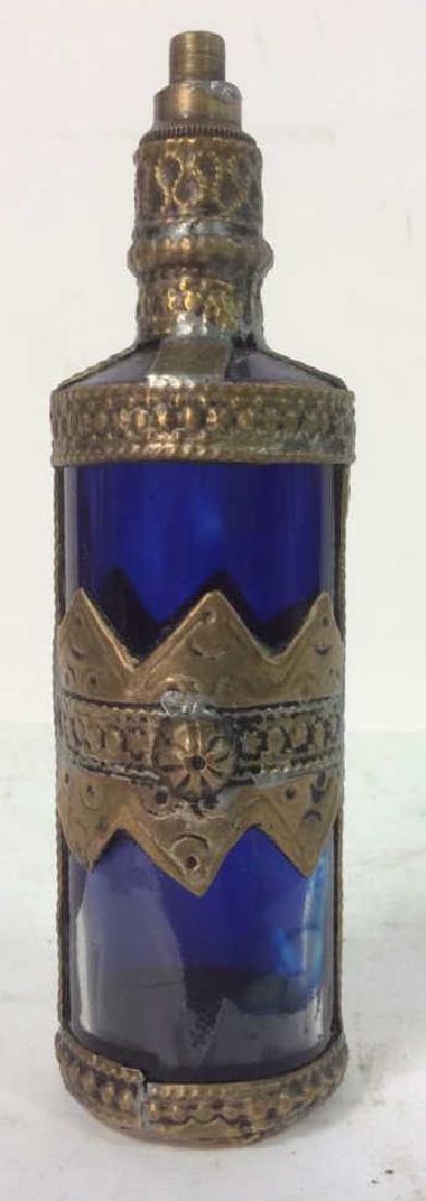 Blue & Gold Toned AntiquePerfume Bottle - 2