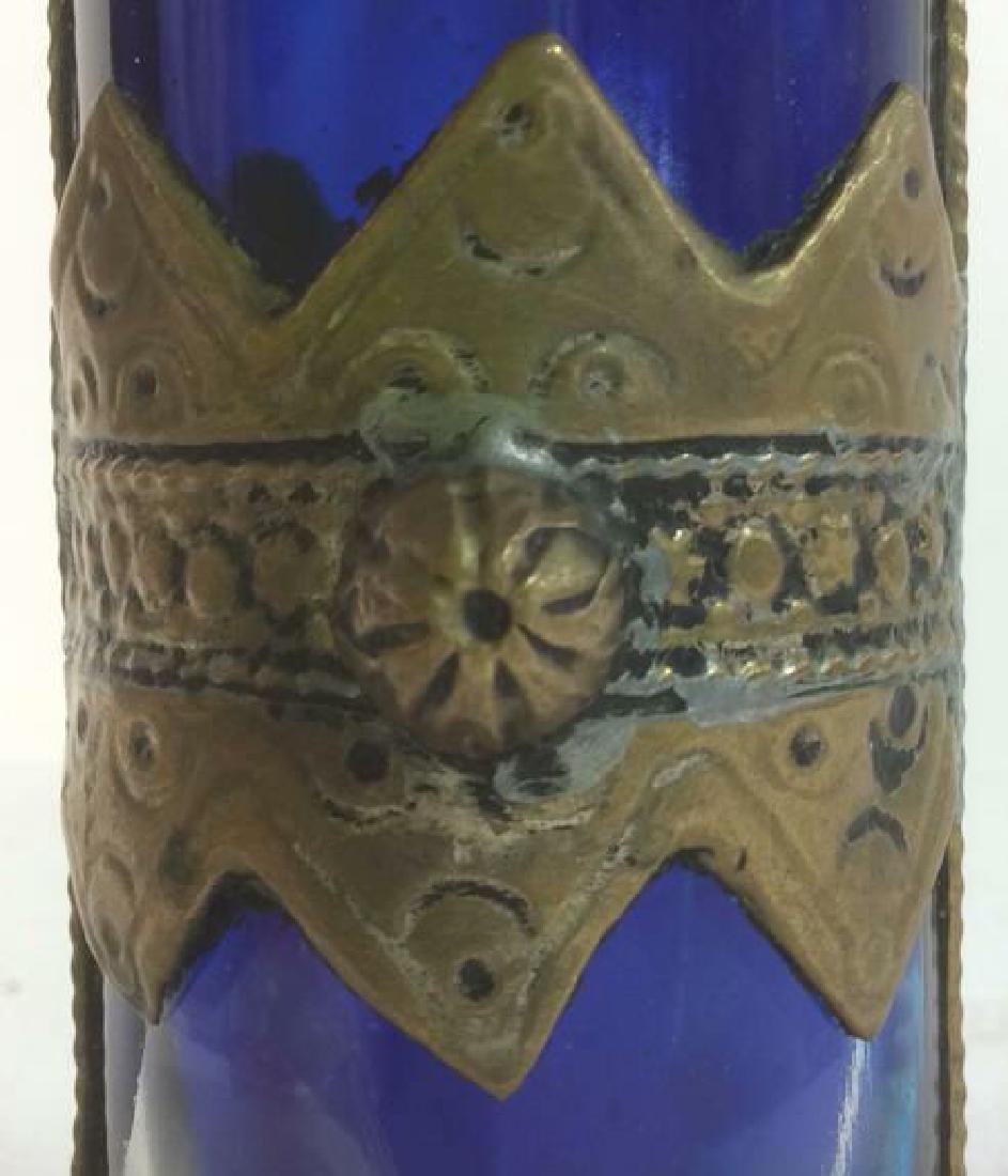 Blue & Gold Toned AntiquePerfume Bottle - 4