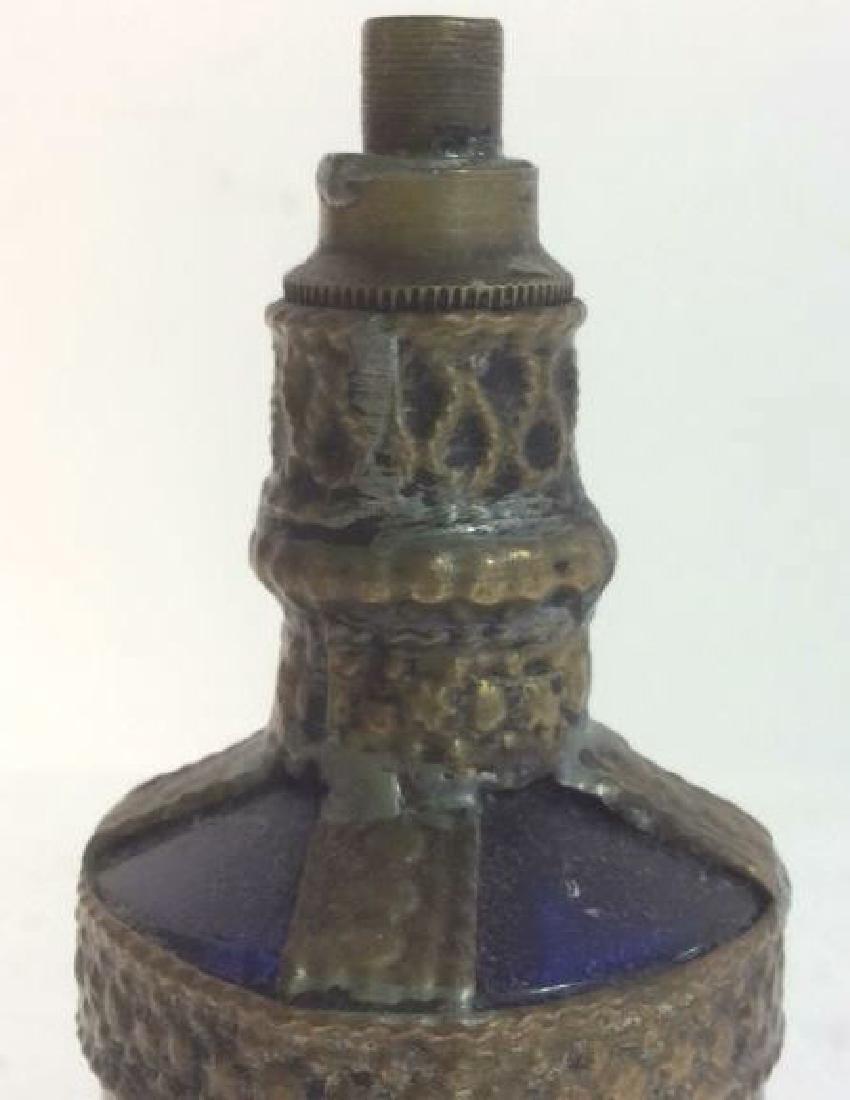 Blue & Gold Toned AntiquePerfume Bottle - 5