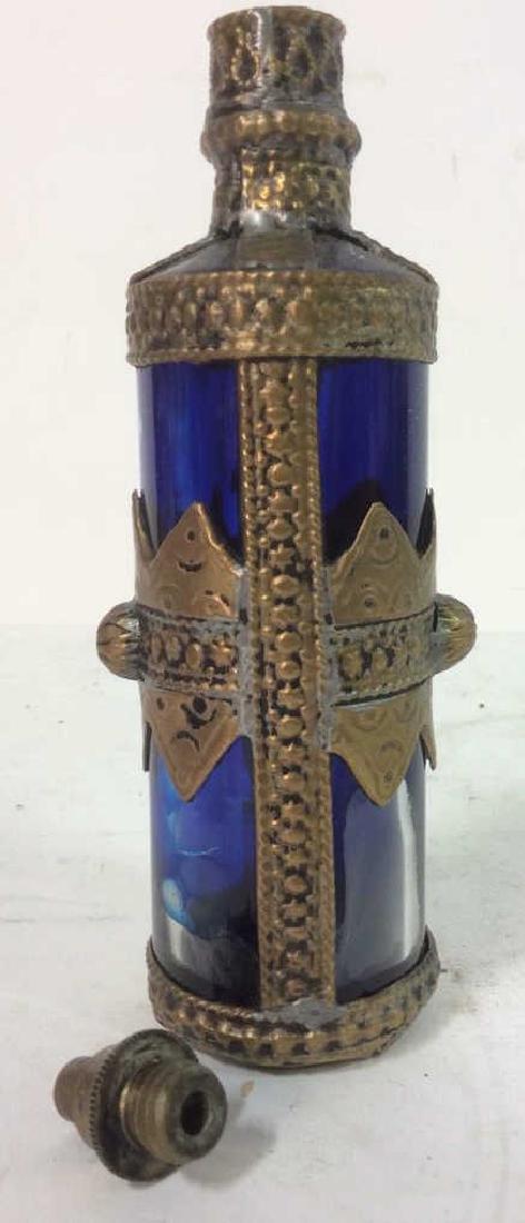 Blue & Gold Toned AntiquePerfume Bottle - 6