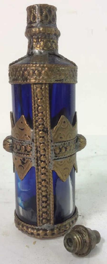 Blue & Gold Toned AntiquePerfume Bottle - 7