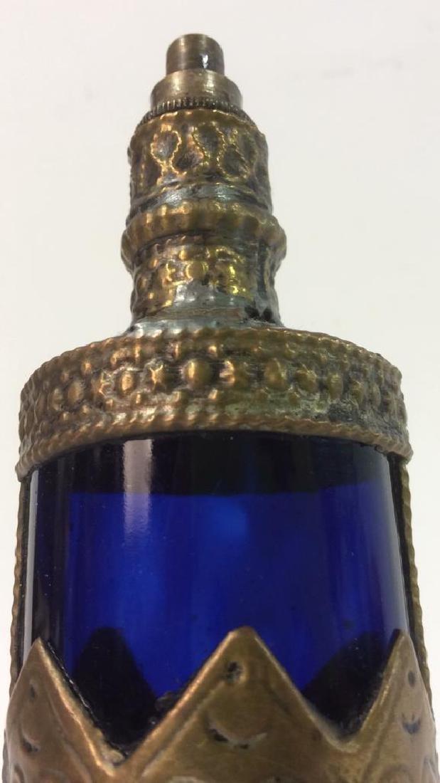Blue & Gold Toned AntiquePerfume Bottle - 9