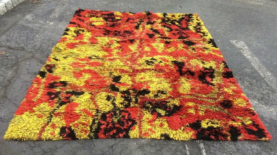 Multi Toned Modern Wool Rug Carpet