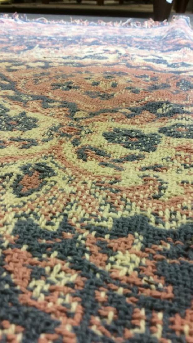 Handmade Multi Toned Fringed Wool Blanket - 10