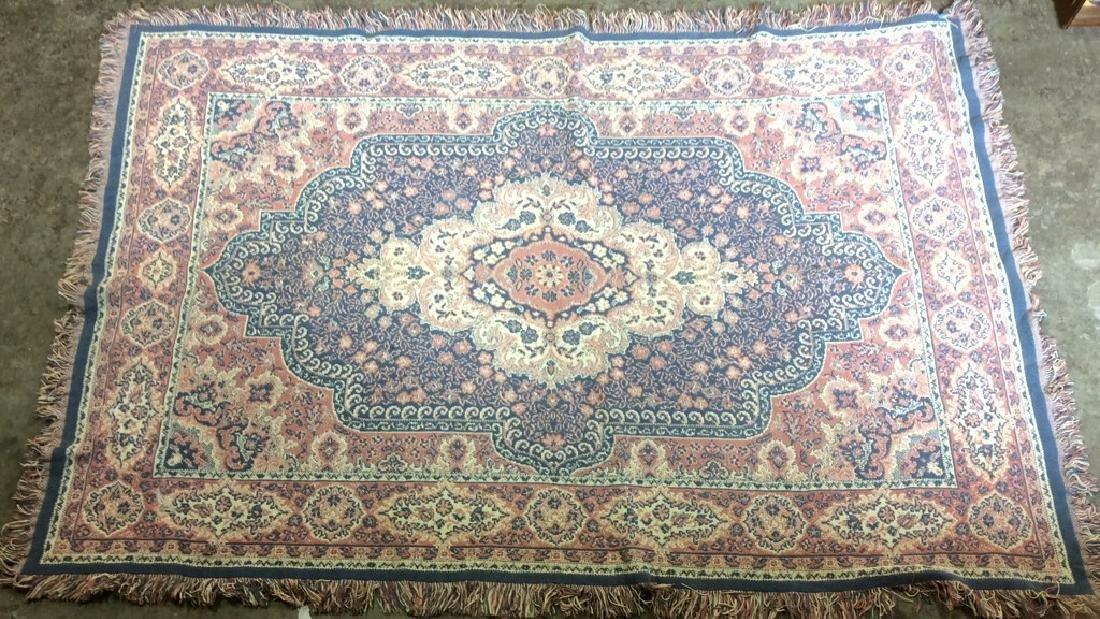 Handmade Multi Toned Fringed Wool Blanket - 2