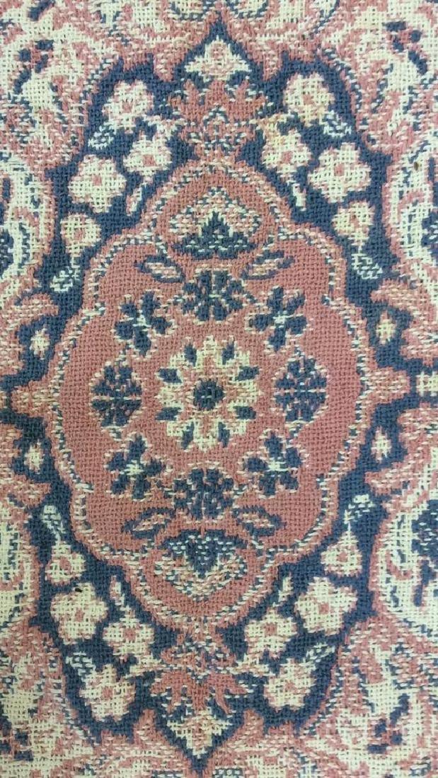 Handmade Multi Toned Fringed Wool Blanket - 4