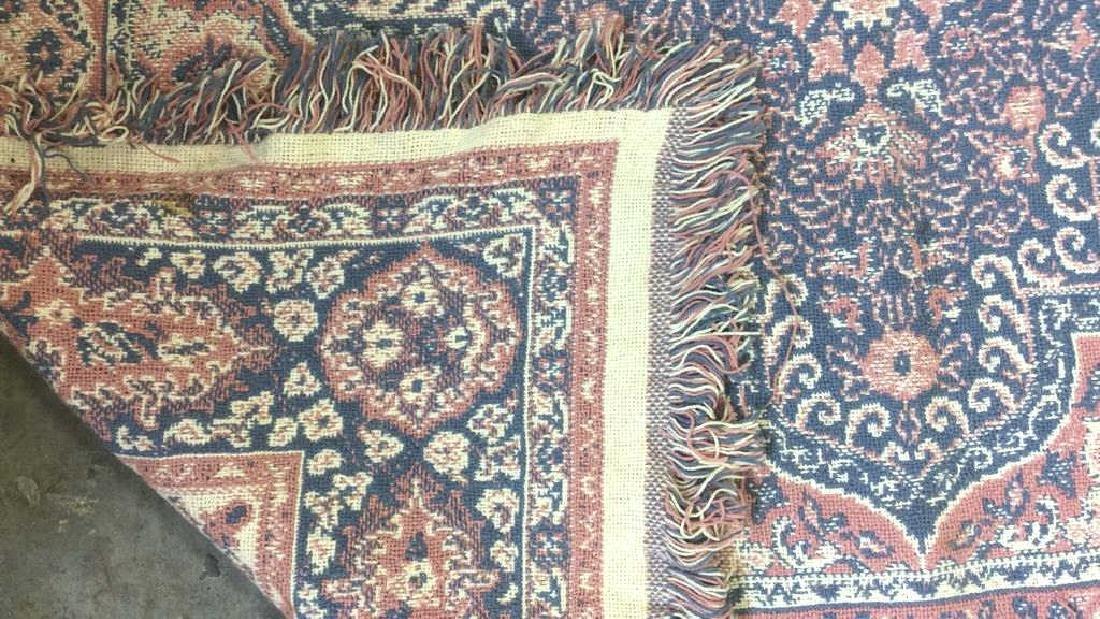 Handmade Multi Toned Fringed Wool Blanket - 6