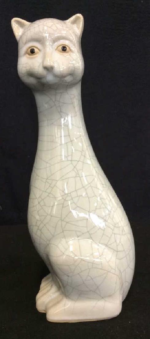 Mid Century Ceramic Cat Statuette