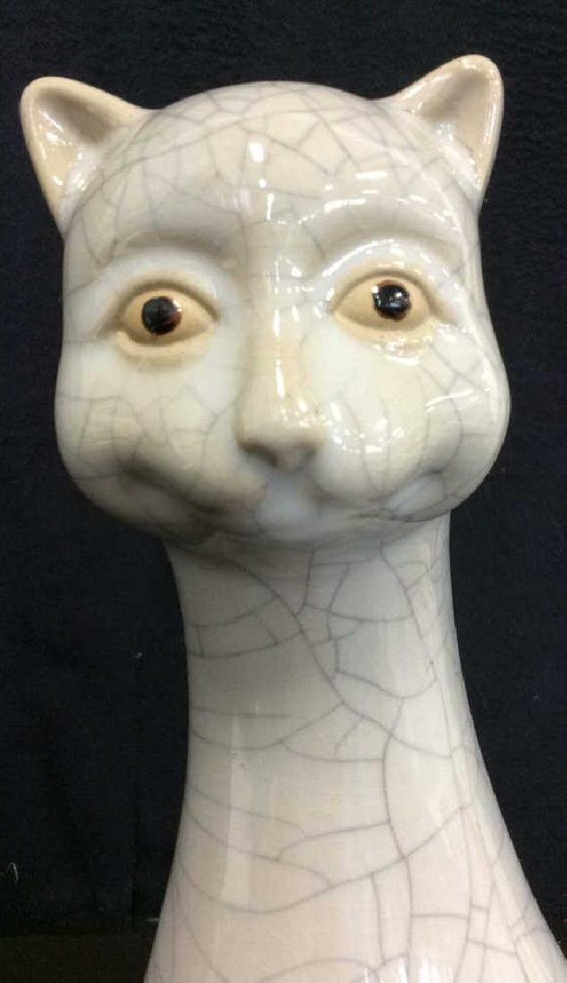 Mid Century Ceramic Cat Statuette - 2