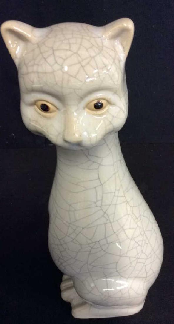 Mid Century Ceramic Cat Statuette - 3