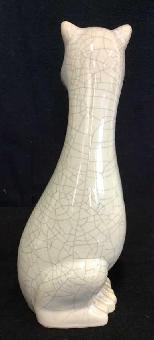 Mid Century Ceramic Cat Statuette - 5