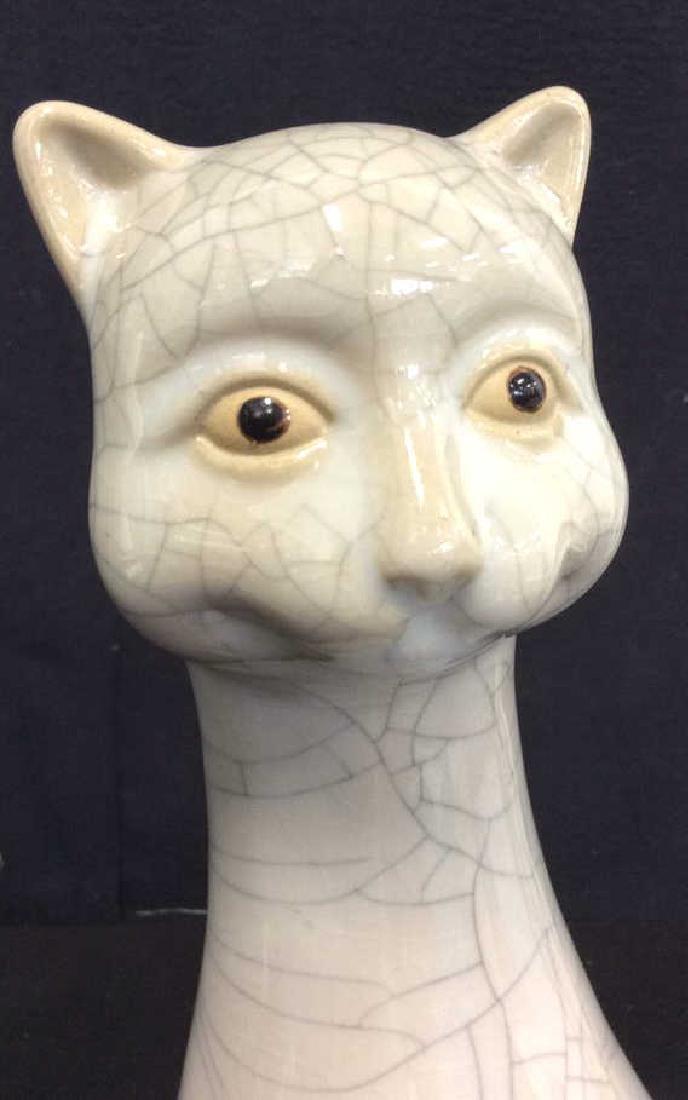 Mid Century Ceramic Cat Statuette - 8