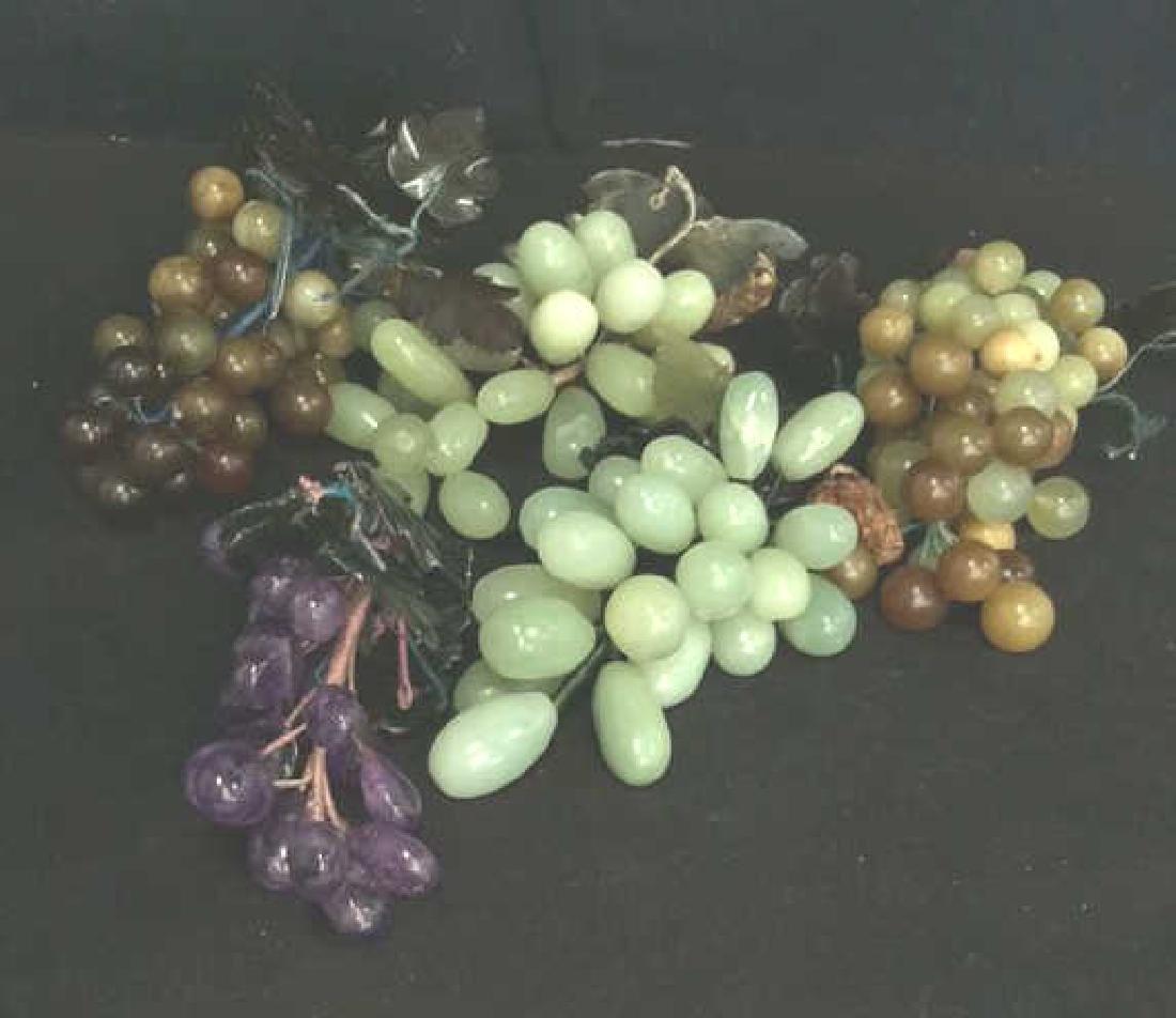 Lot 5 Multi Toned Assorted Soapstone Fruit
