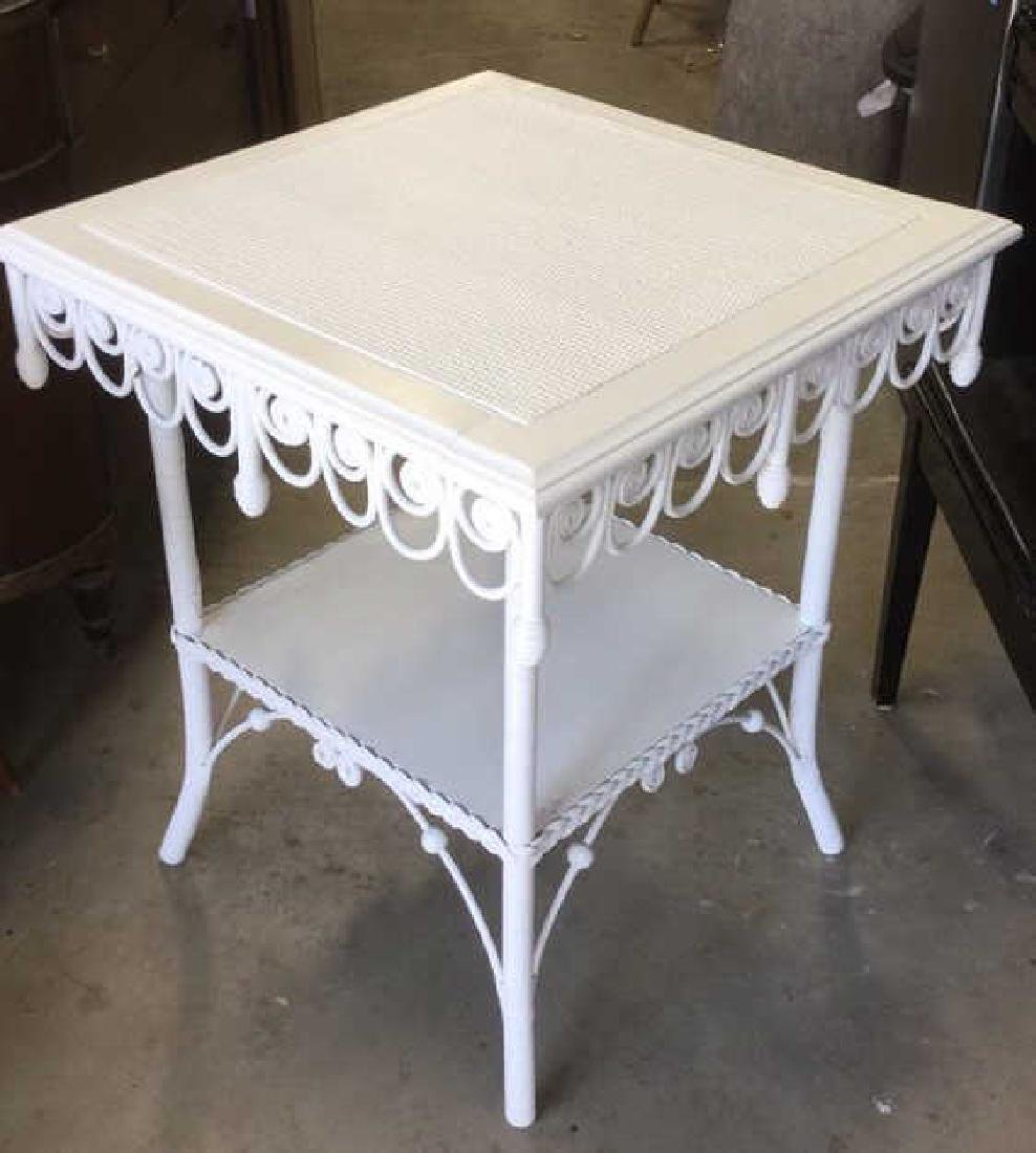 Victorian Vintage Ornamental Wicker Table