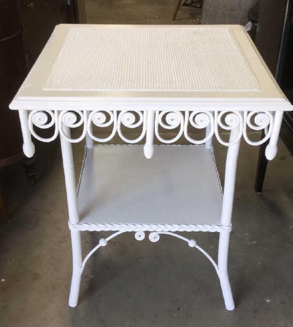 Victorian Vintage Ornamental Wicker Table - 7