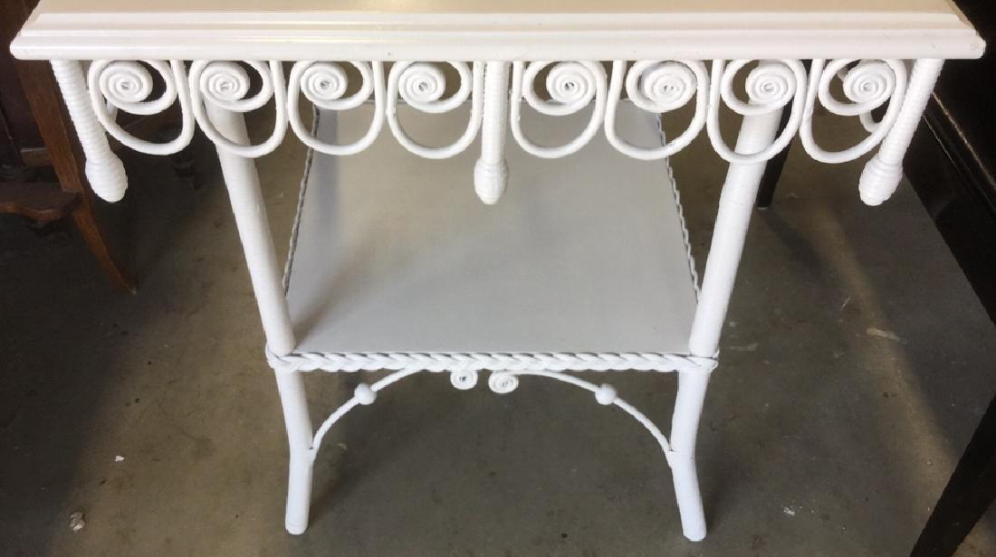 Victorian Vintage Ornamental Wicker Table - 8