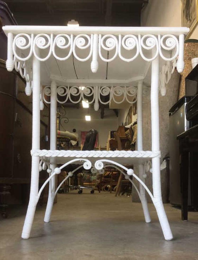 Victorian Vintage Ornamental Wicker Table - 9