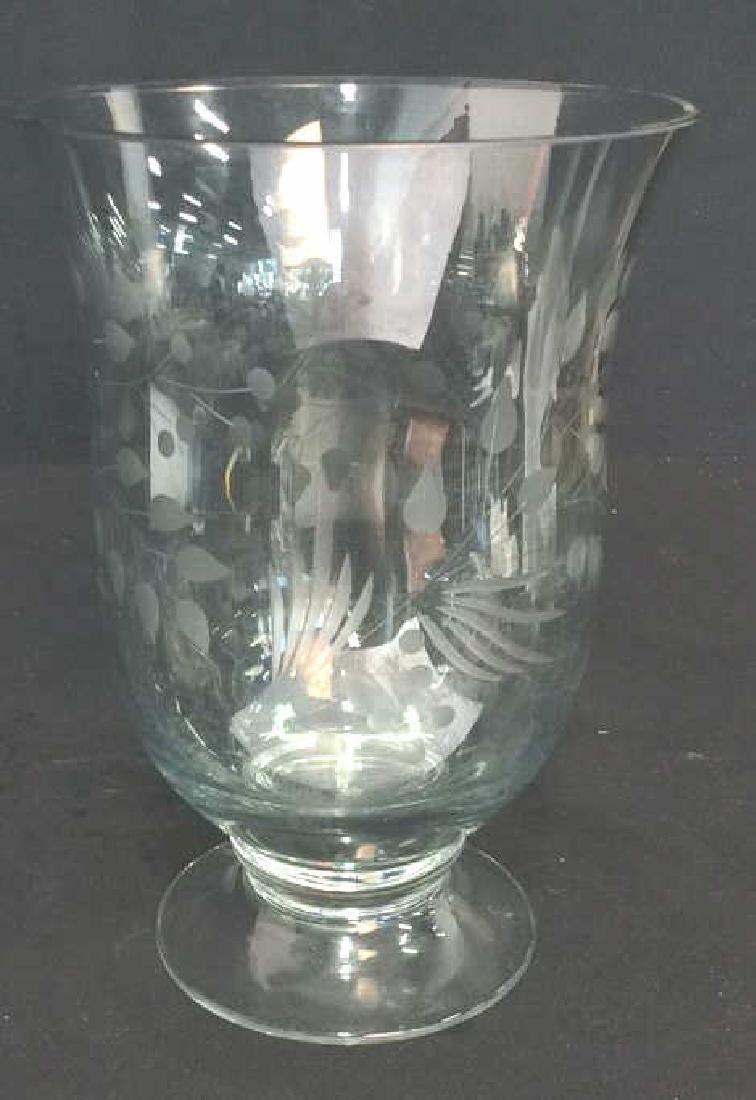 LENOX Floral Etched Crystal Vase