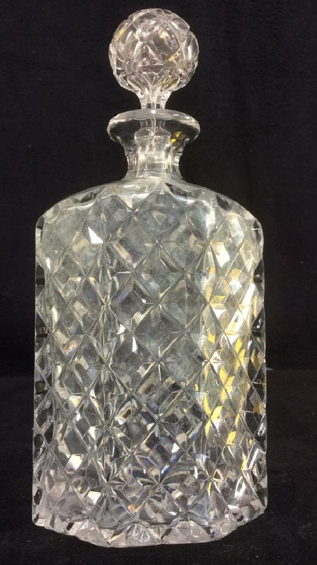 Heavy Cut Crystal Decanter W Stopper