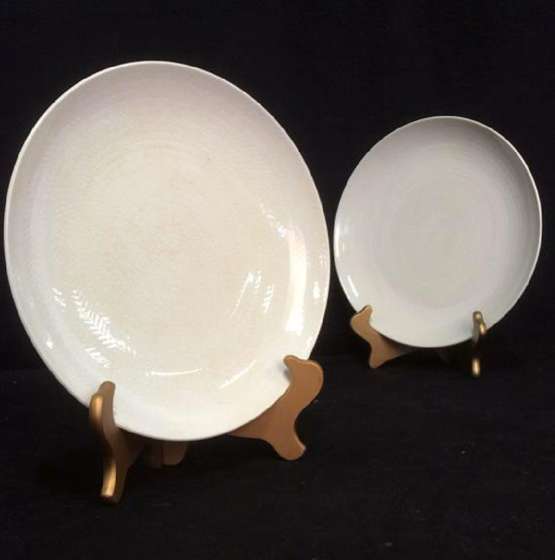 Lot 9 BLUE FIRE by ROSTRAND Dinner Plates - 9