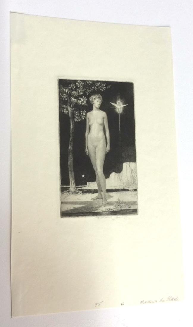 Signed Nathaniel Sparks Shadow and Shade Drypoint - 6