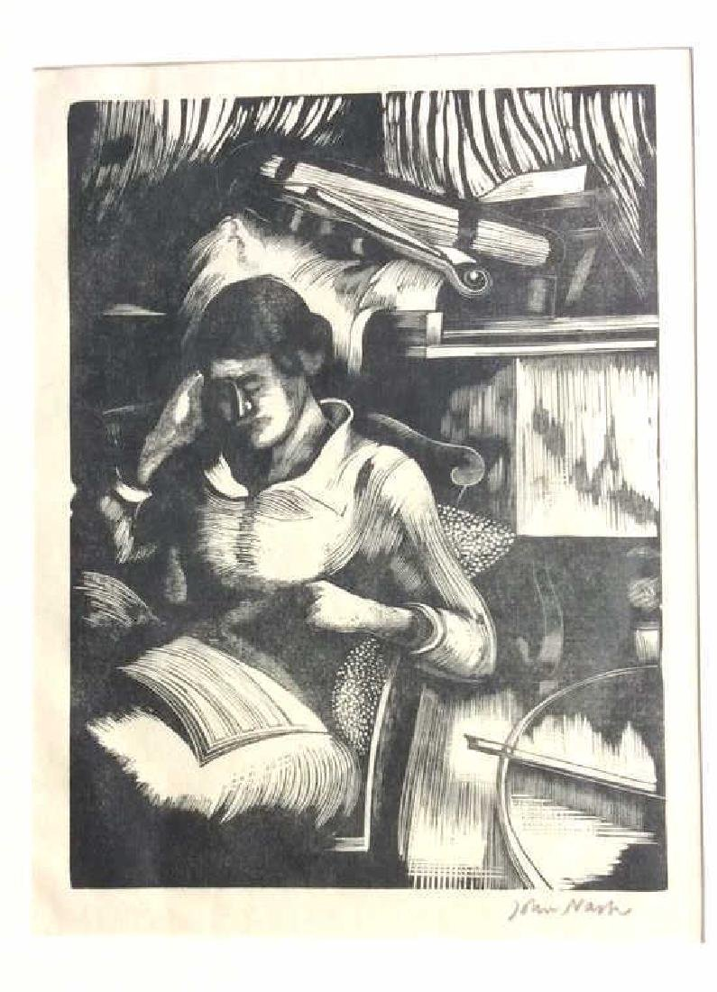 Signed John Nash Reading Aquatint 1925