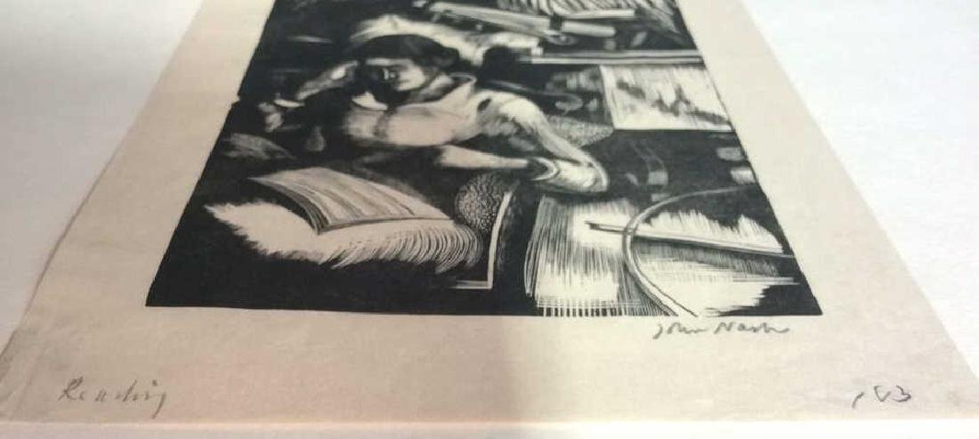 Signed John Nash Reading Aquatint 1925 - 8