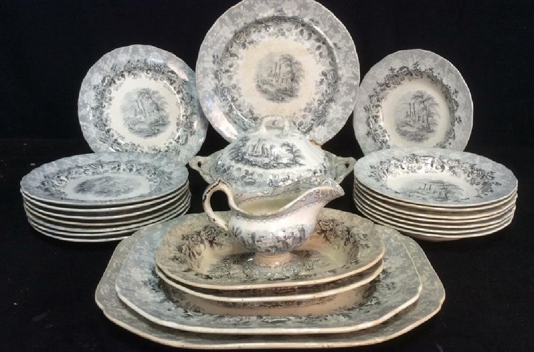 Lot 22 VIGNETTE Stoneware marked Antique China