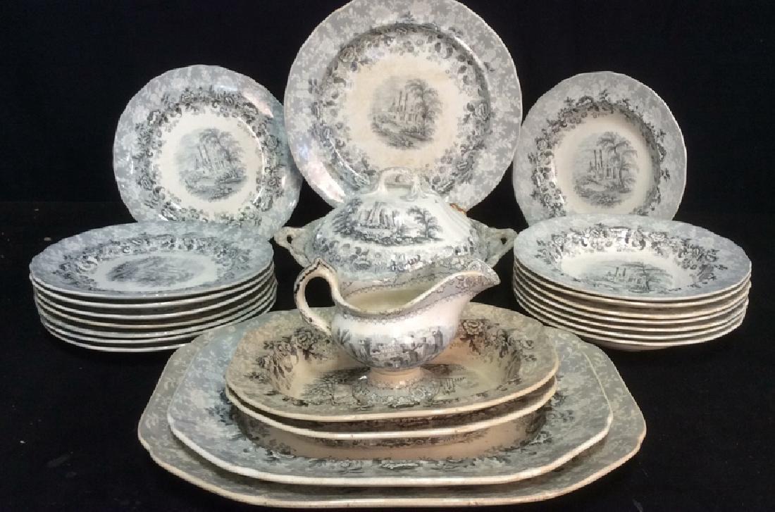 Lot 22 VIGNETTE Stoneware marked Antique China