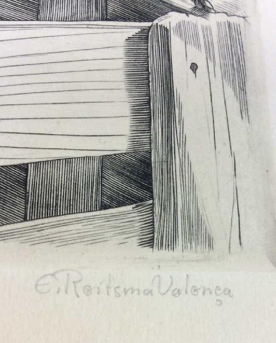 E. Roilsma Volonca Etching Artwork Cow - 3