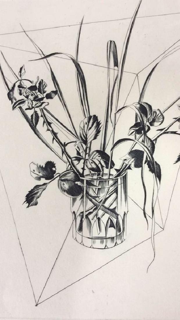 Signed Rachel Bart Floral Still Life Artwork