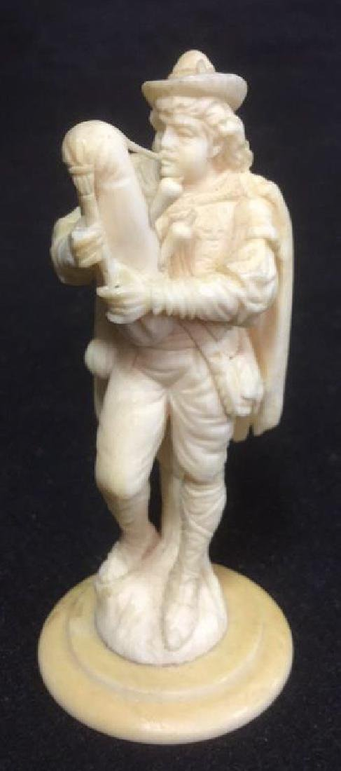 Hand Carved Woodsman Figural Playing Bagpipes