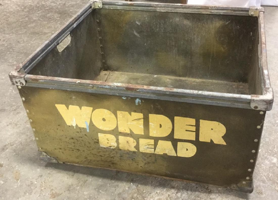 Vintage Painted Wonder Bread Delivery Bin