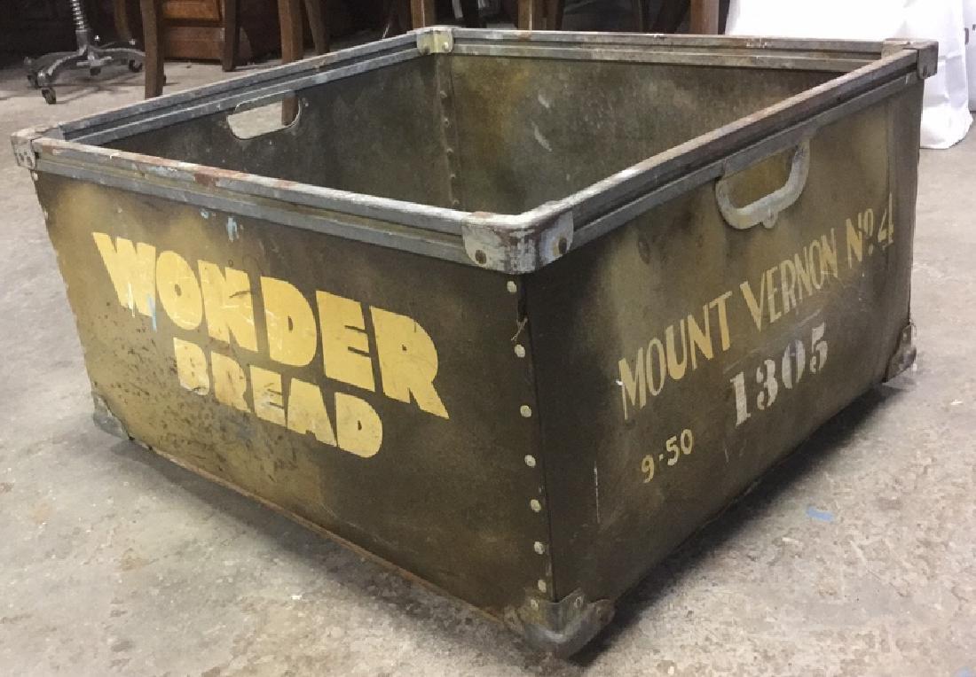 Vintage Painted Wonder Bread Delivery Bin - 2