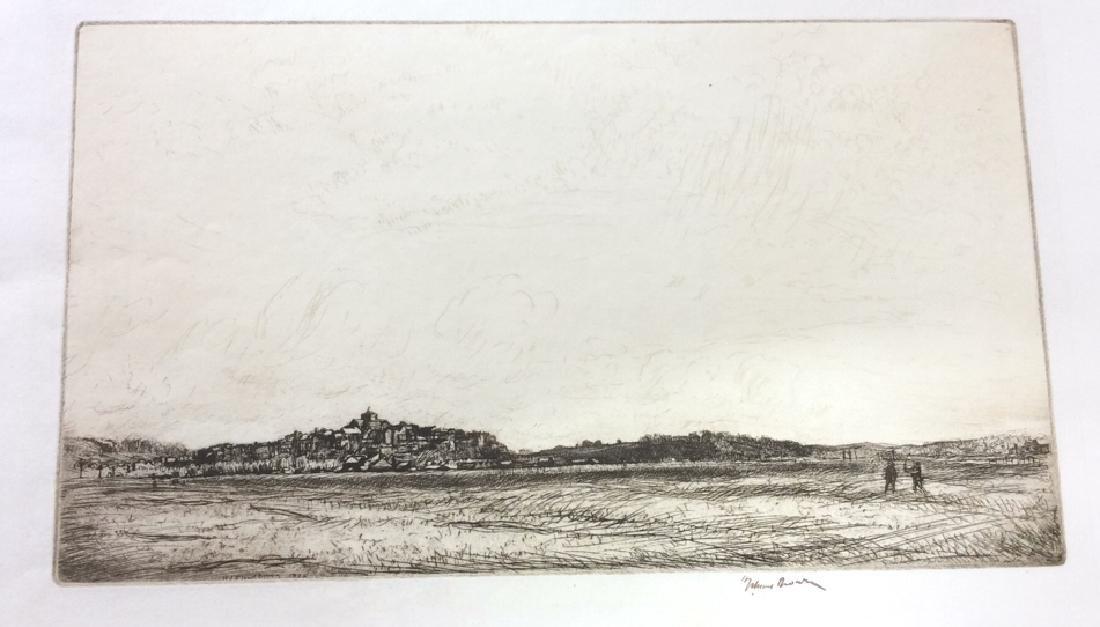H. Stuart Brown Etching Artwork