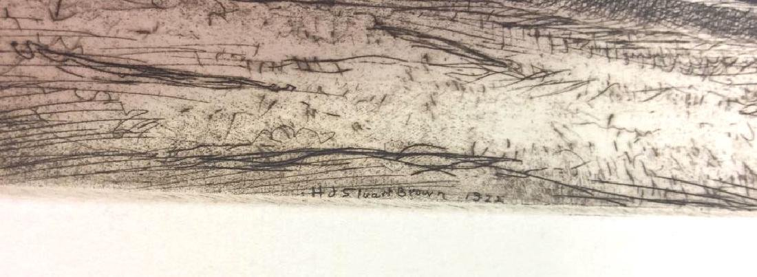 H. Stuart Brown Etching Artwork - 4