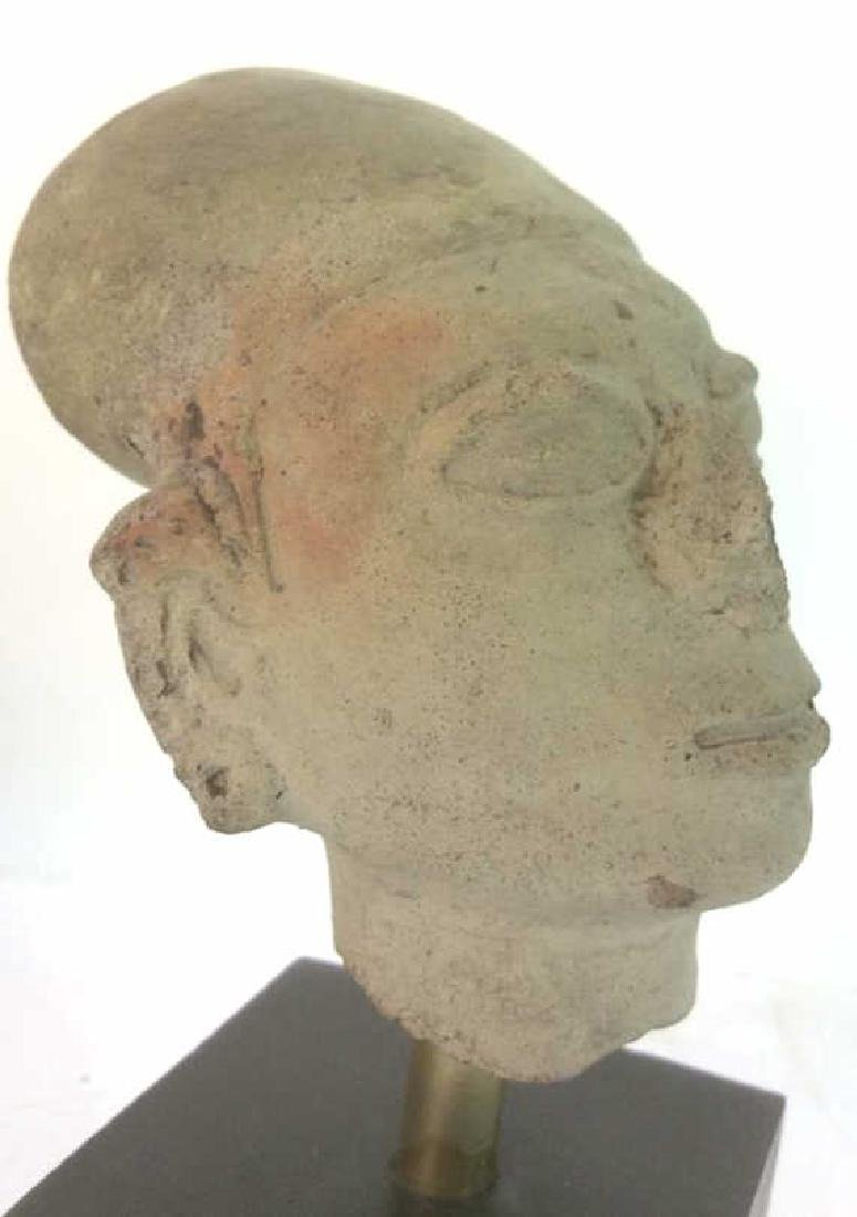 Pedestaled Head Carving Figural Pre-Columbian Styl - 6