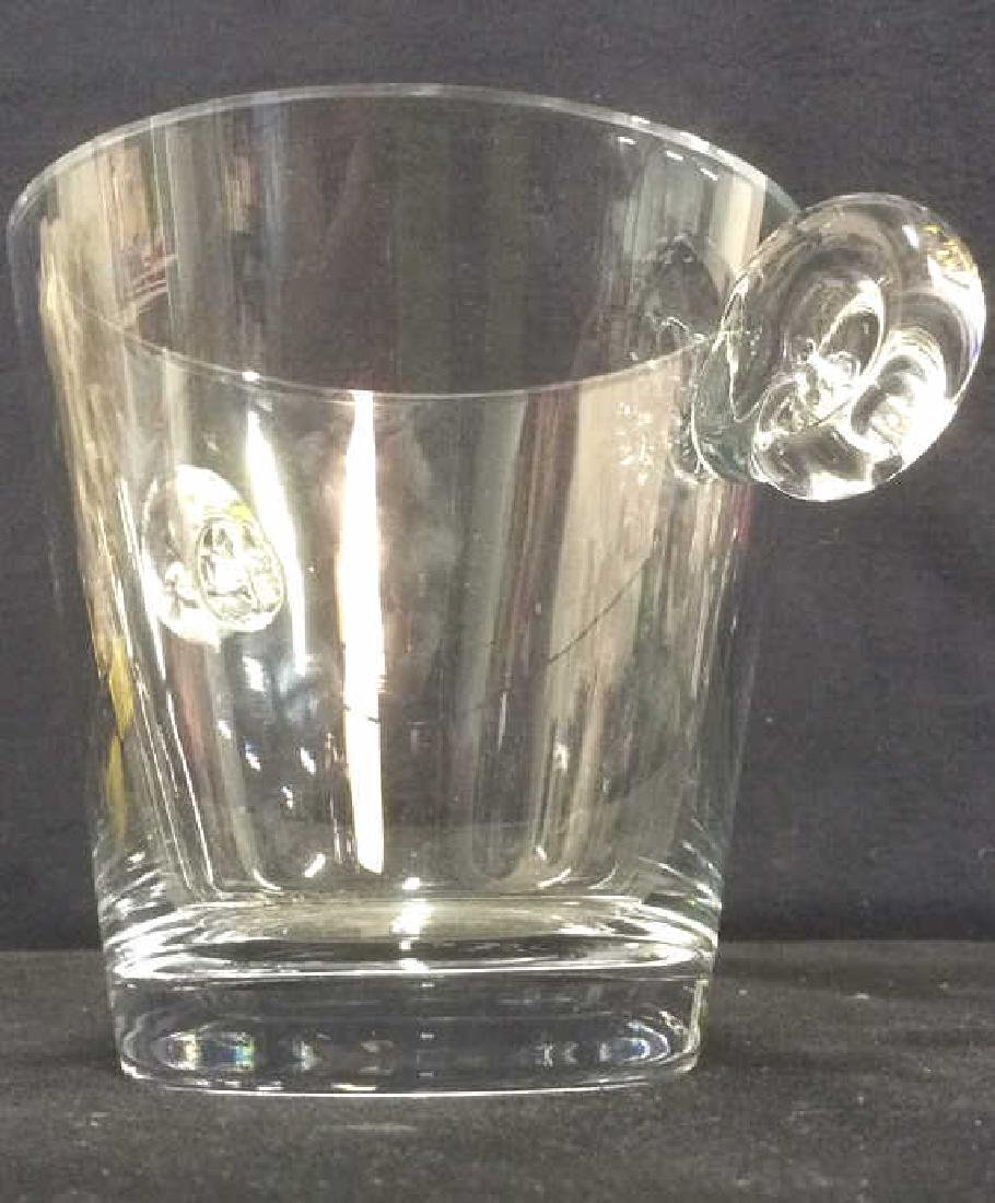 Handled Cut Crystal Ice Bucket - 3