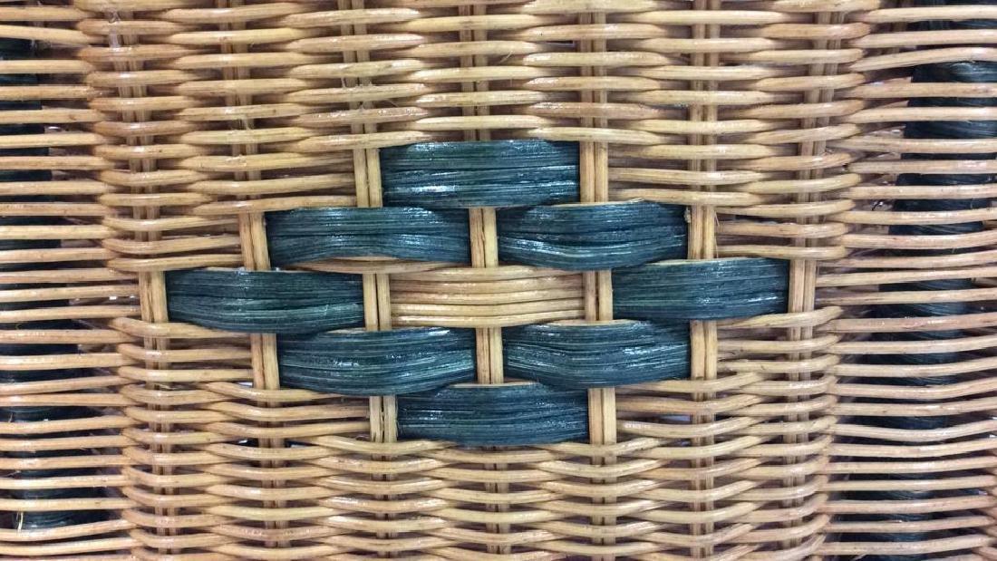 Multi Toned Woven Wicker Basket - 7