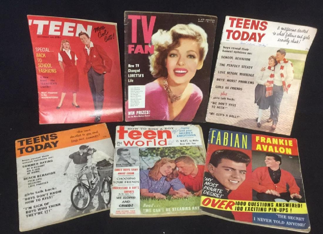 Lot 14 Vintage Teen And TV Magazines