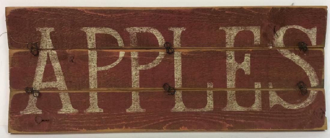 DARLENE DESIGNS Handcrafted Apples Sign
