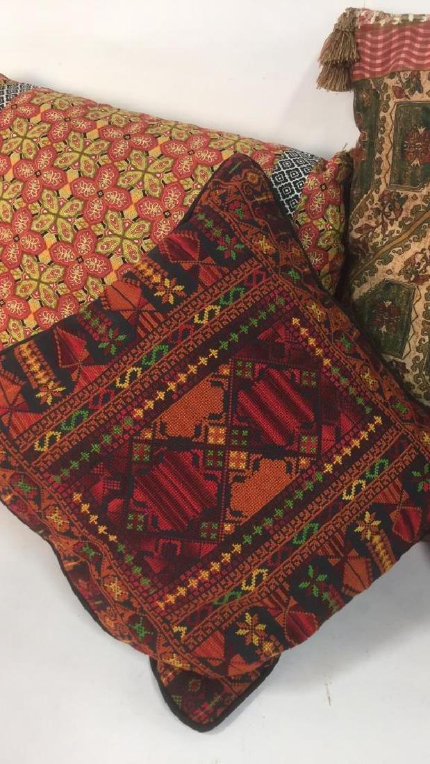 Lot 4 Colorful Decorative Throw Pillows - 2
