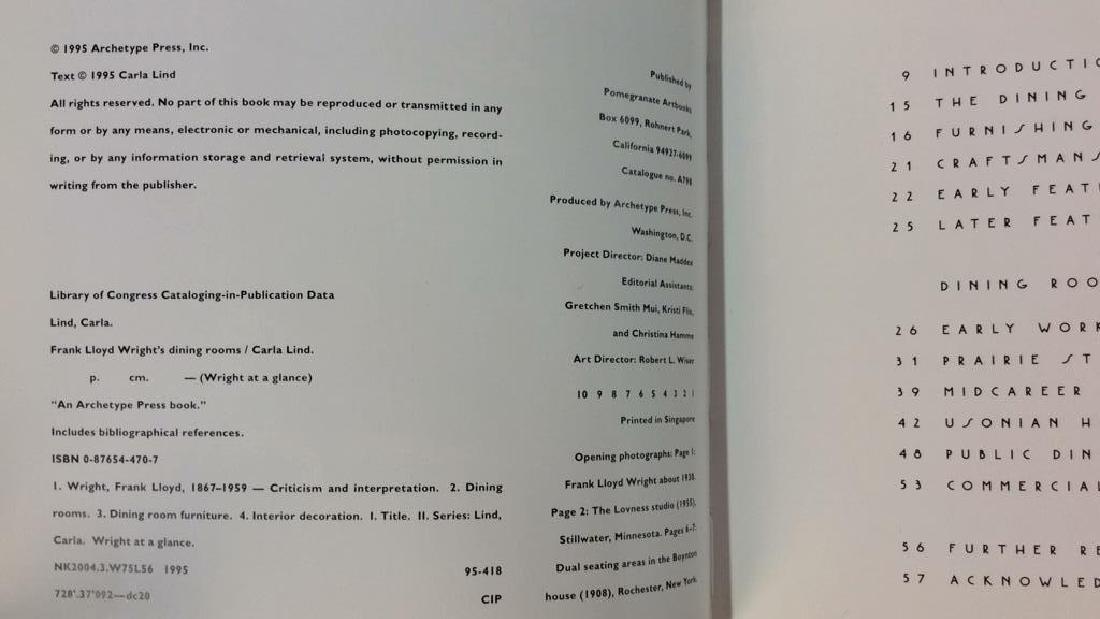 Pair Frank Lloyd Wright's Coffee Table Books - 4