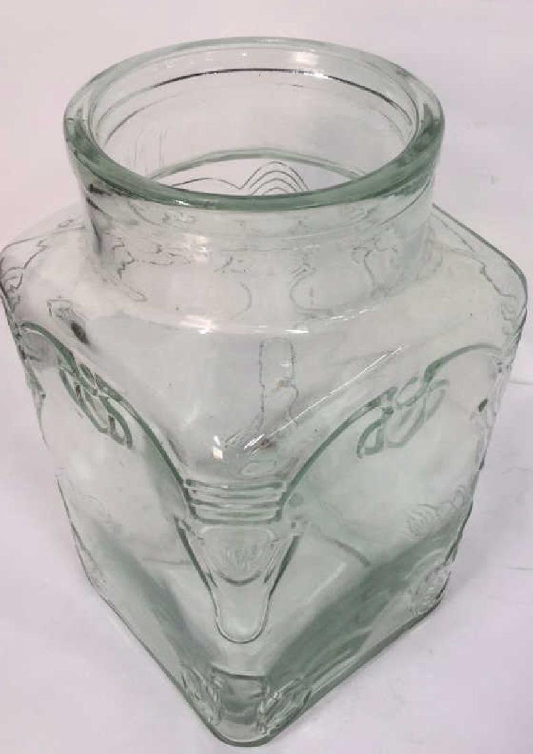Relief Glass Vase With Abstract Textured Motif. - 3