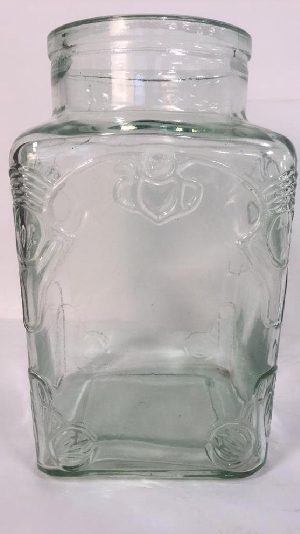 Relief Glass Vase With Abstract Textured Motif. - 4