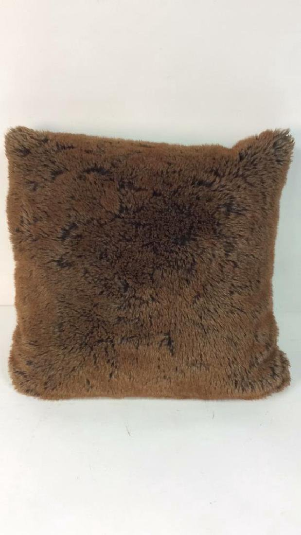 POTTERY BARN Faux Fur Blanket & Pillow - 5
