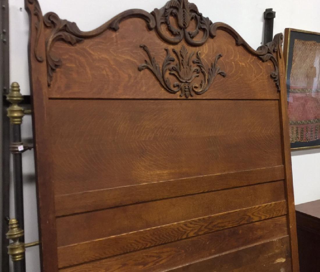 Vintage Carved Wood Headboard